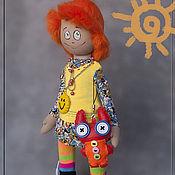 Куклы и игрушки ручной работы. Ярмарка Мастеров - ручная работа Чудачка Лилу с чудо-зайкой. Handmade.