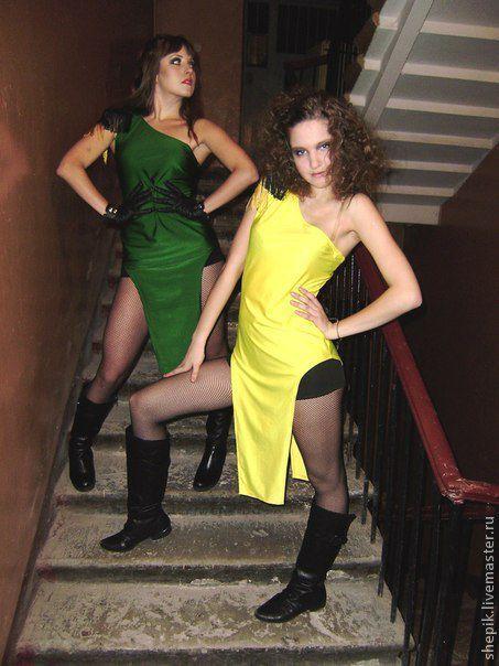 """Танцевальные костюмы ручной работы. Ярмарка Мастеров - ручная работа. Купить Костюм танцевальный """"Beyonce"""",  бифлекс. Handmade. Платье, желтый"""