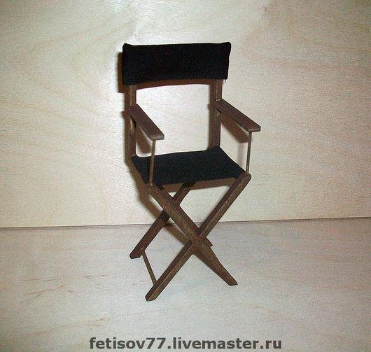 """Кукольный дом ручной работы. Ярмарка Мастеров - ручная работа. Купить Кукольный стульчик """"походный"""". Handmade. Кукольный дом"""