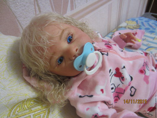 Куклы-младенцы и reborn ручной работы. Ярмарка Мастеров - ручная работа. Купить Ангелина. Handmade. Бежевый, волосы, Молд