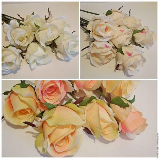 Другие виды рукоделия ручной работы. Ярмарка Мастеров - ручная работа. Купить Розы полубутоны одиночные 40 см ( кор). Handmade.