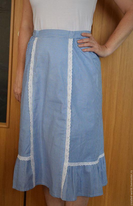 Одежда. Ярмарка Мастеров - ручная работа. Купить Юбка из хлопка. Венгрия. 42. Handmade. Комбинированный, юбка на резинке, хлопок