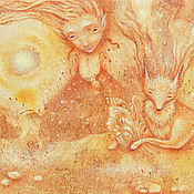 Картины и панно ручной работы. Ярмарка Мастеров - ручная работа Свет вечерний. Картина фэнтези. Огненный Лис.. Handmade.