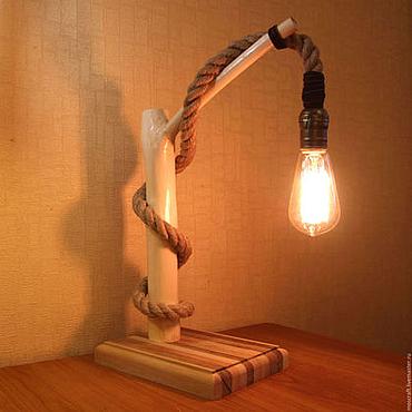 Для дома и интерьера ручной работы. Ярмарка Мастеров - ручная работа Светильник из ветки в стиле лофт. Handmade.