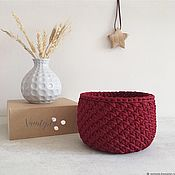 Для дома и интерьера handmade. Livemaster - original item Set of knitted interior baskets for storage Basket. Handmade.