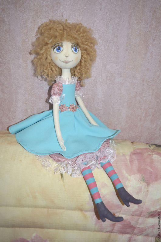 Куклы тыквоголовки ручной работы. Ярмарка Мастеров - ручная работа. Купить Кукла Потеряшка. Handmade. Бирюзовый, кукла текстильная, вискоза