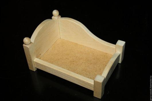 Кукольный дом ручной работы. Ярмарка Мастеров - ручная работа. Купить Кроватка - малютка кукольная деревянная. Handmade. Бежевый