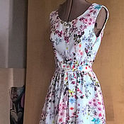 Одежда handmade. Livemaster - original item Summer wrap dress cotton
