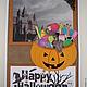 """Открытки к другим праздникам ручной работы. Ярмарка Мастеров - ручная работа. Купить Открытка """"Счастливого Хэллоуина!"""". Handmade. Разноцветный, Хэллоуин"""