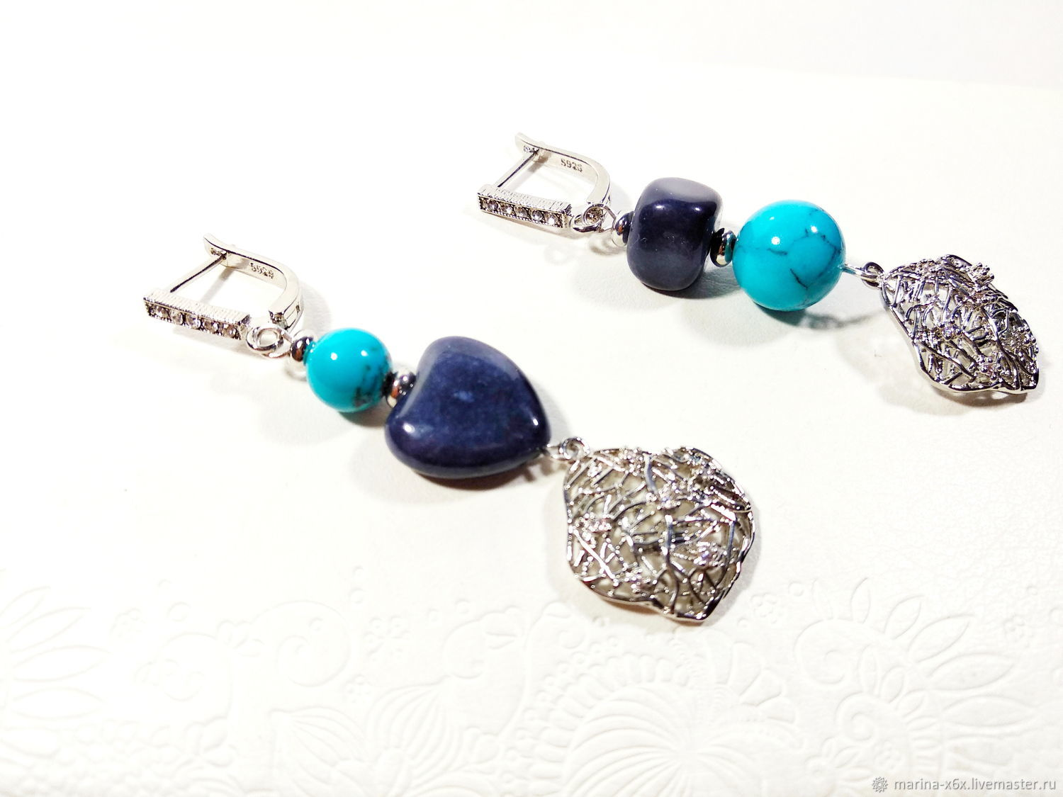 Earrings with natural stones, Earrings, Moscow,  Фото №1
