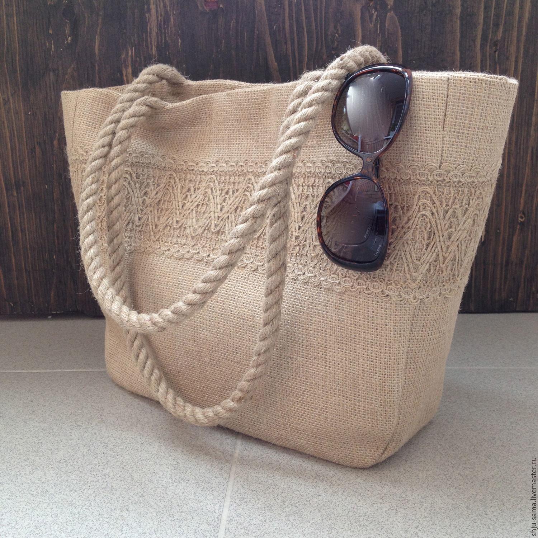 Женские сумки ручной работы. Ярмарка Мастеров - ручная работа. Купить  Пляжная сумка