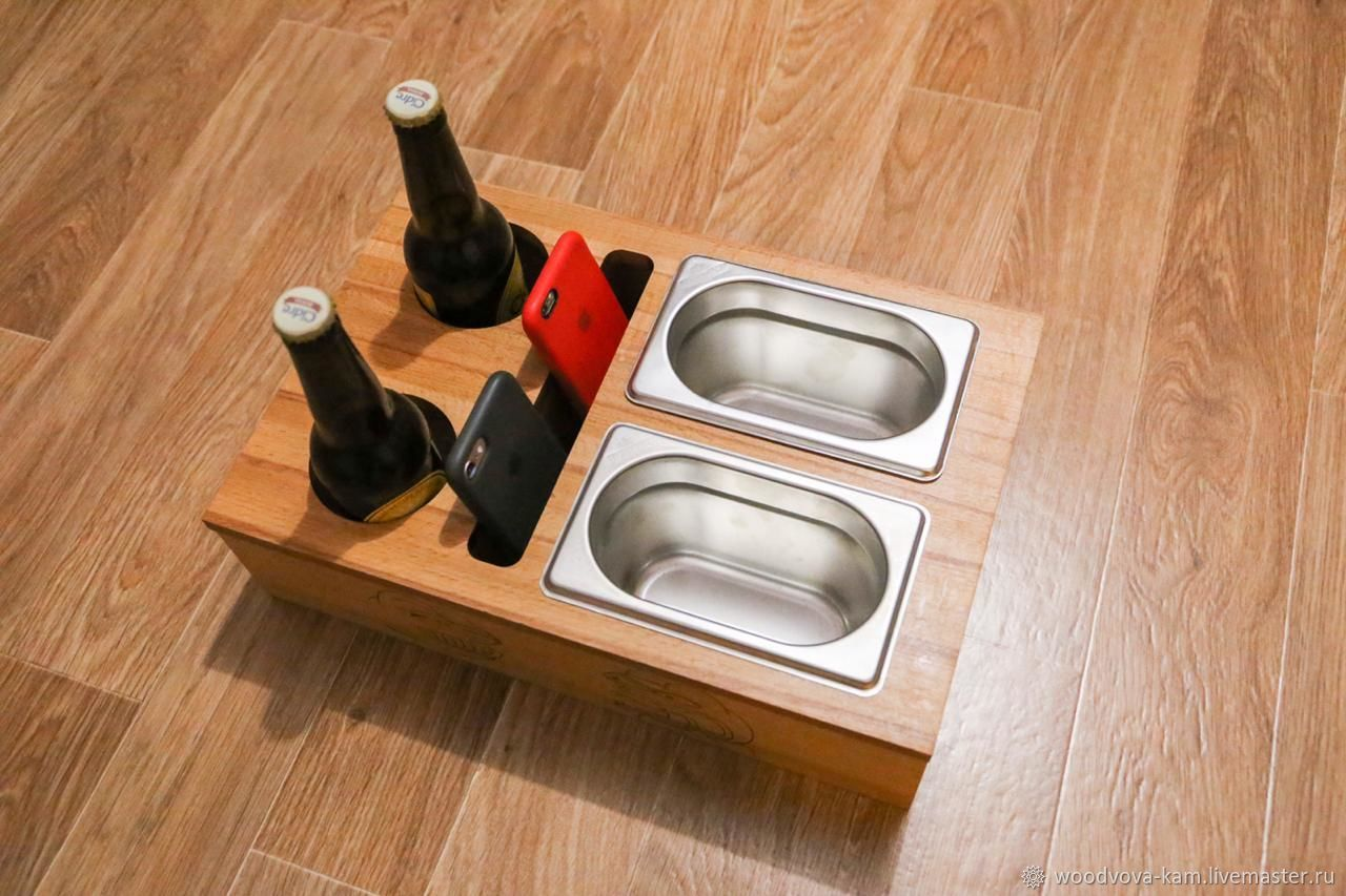 Stand / tray for beer and snacks with a section for phones / remotes, Kitchen sets, Rostov-on-Don,  Фото №1