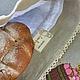 """Кухня ручной работы. Льняной мешочек для хлеба """" Богатый урожай"""". Наталия Сухова (NSDecor). Ярмарка Мастеров. Шелковые нитки"""