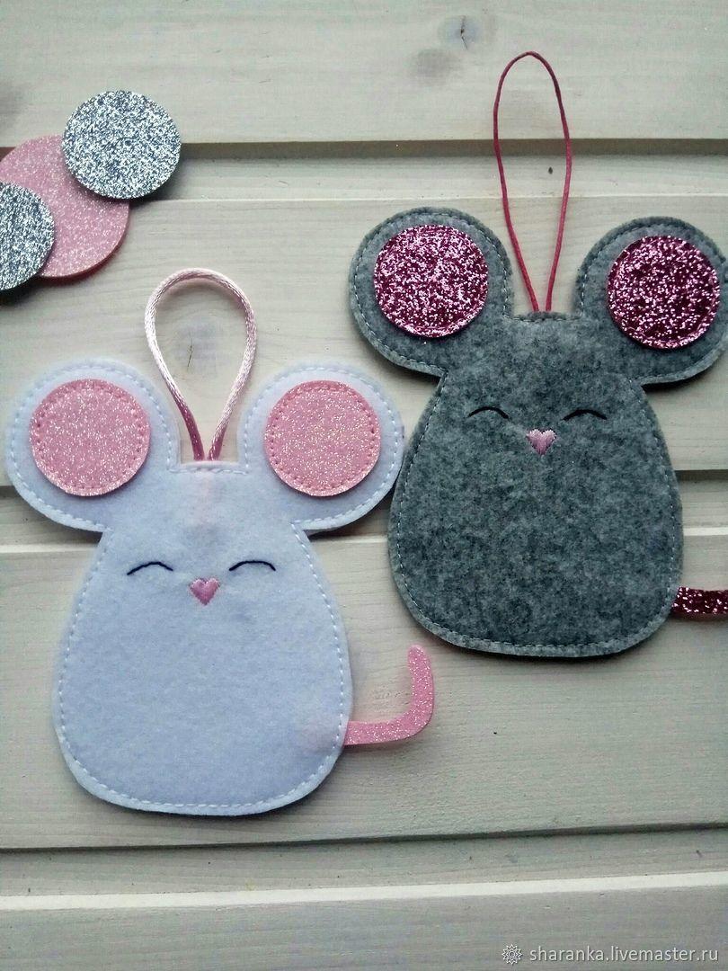 Symbol 2020. Mouse felt, Christmas gifts, Ivanovo,  Фото №1