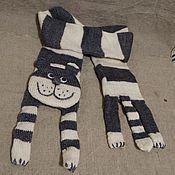 Аксессуары ручной работы. Ярмарка Мастеров - ручная работа Шарф котик полосатый. Handmade.