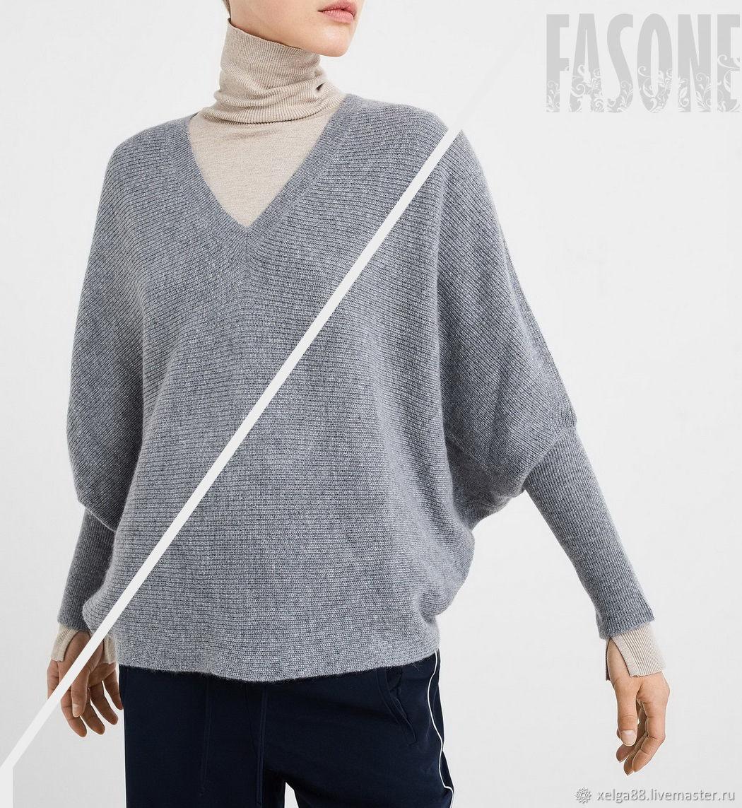 Кашемировый свитер серый Женский свитер серый, Свитеры, Москва,  Фото №1
