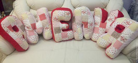 Буквы подушки для детской комнаты