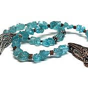 Украшения handmade. Livemaster - original item Apatite Bracelet. Natural natural stone, accessories by Anna Chernykh. Handmade.