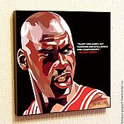 Картины и панно handmade. Livemaster - original item Painting poster Pop Art Michael Jordan. Handmade.