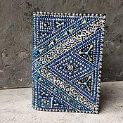 Обложки ручной работы. Ярмарка Мастеров - ручная работа Обложка для паспорта синяя с серебром. Handmade.