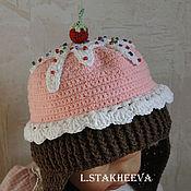 Работы для детей, ручной работы. Ярмарка Мастеров - ручная работа шапка пироженка. Handmade.