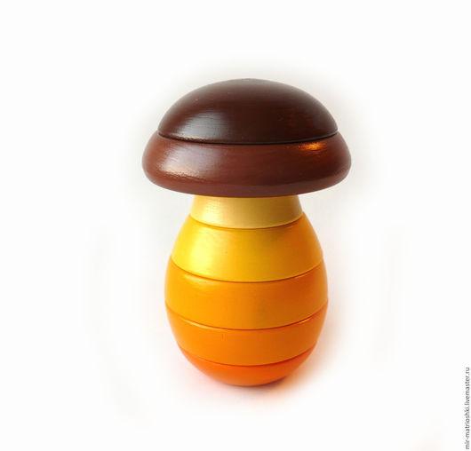"""Развивающие игрушки ручной работы. Ярмарка Мастеров - ручная работа. Купить Пирамидка """"Гриб"""" (высота 11,5 см.). Handmade."""