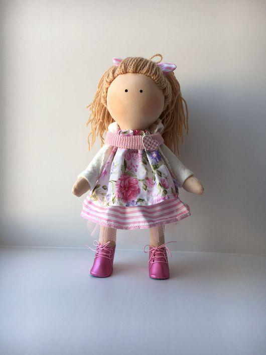Куклы тыквоголовки ручной работы. Ярмарка Мастеров - ручная работа. Купить Текстильная кукла. Handmade. Интерьерная кукла, handmade, замша