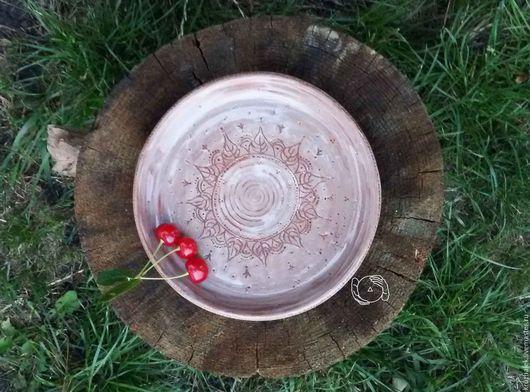 Тарелки ручной работы. Ярмарка Мастеров - ручная работа. Купить Дымчатая тарелка. Handmade. Бледно-сиреневый, нежная, ручной труд
