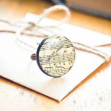 """Украшения ручной работы. Ярмарка Мастеров - ручная работа Кольцо """"Музыкальное"""". Handmade."""
