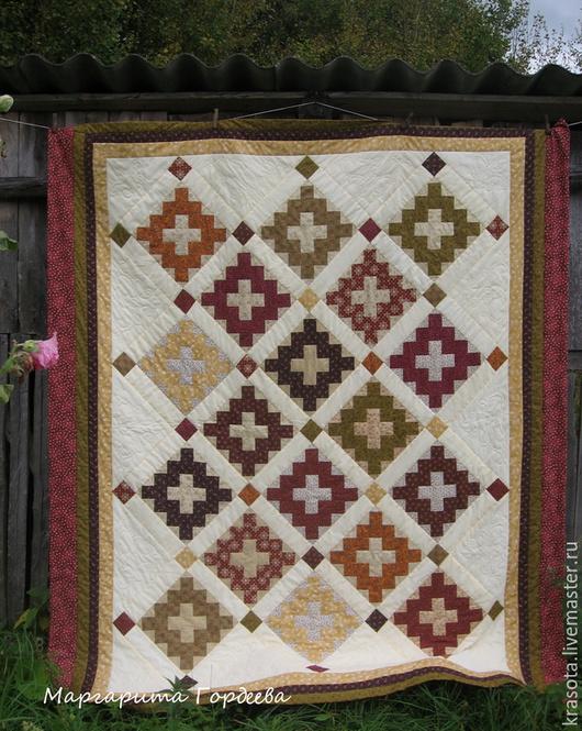 Текстиль, ковры ручной работы. Ярмарка Мастеров - ручная работа. Купить Лоскутное покрывало Chimney. Handmade. Лоскутное покрывало, белый