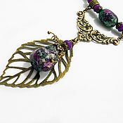 Украшения handmade. Livemaster - original item Necklace Whisper of the forest Necklace with natural stones. Handmade.