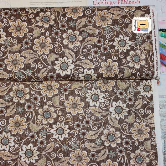 Шитье ручной работы. Ярмарка Мастеров - ручная работа. Купить Ткань для пэчворка Кружевные цветы (20440) американский хлопок. Handmade.