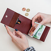 Сумки и аксессуары handmade. Livemaster - original item One money clip (black, brown, sand, red). Handmade.
