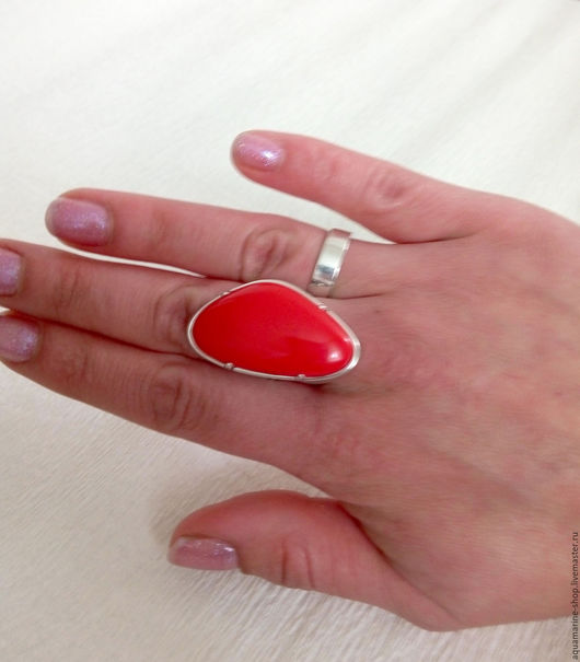 Кольца ручной работы. Ярмарка Мастеров - ручная работа. Купить Кольцо Корра. Handmade. Красный, красные, кольцо с кораллом