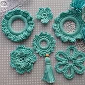 Набор для декорирования  ( 6 элементов) бирюзовый