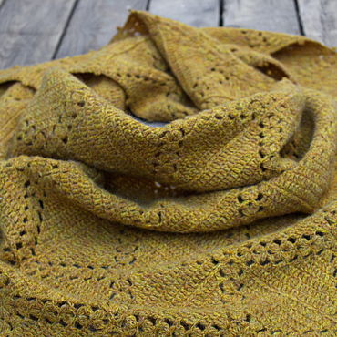 Accessories handmade. Livemaster - original item Knitted mustard scarf of lamb`s wool, scarf, shawl. Handmade.