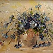 Картины и панно handmade. Livemaster - original item Cornflowers. Handmade.