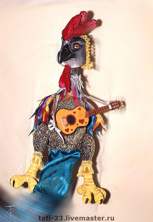 New Year 2017 handmade. Livemaster - handmade. Buy Cock.Puppets on the ensemble..Cock, guitar, petya-petushok