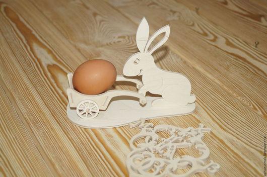 """Декоративная посуда ручной работы. Ярмарка Мастеров - ручная работа. Купить Подставка под яйцо """"Пасхальный кролик"""". Handmade."""