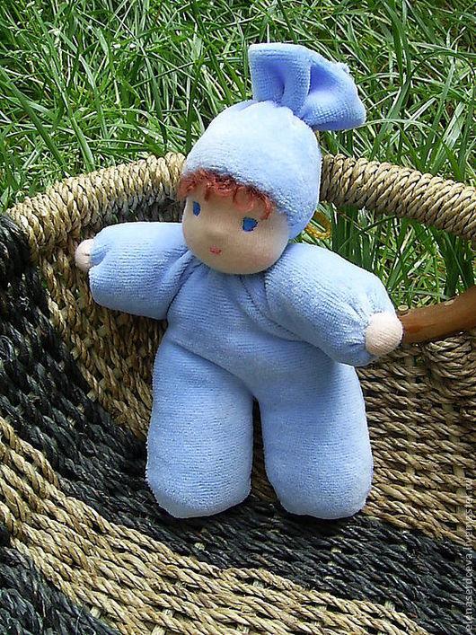 Вальдорфская игрушка ручной работы. Ярмарка Мастеров - ручная работа. Купить Крупяной малыш. Handmade. Голубой, натуральные материалы, пшено