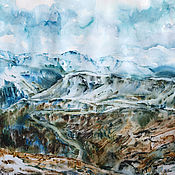 Картины и панно handmade. Livemaster - original item The watercolor paintings of the Ural mountains. Handmade.