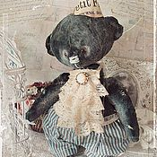 """Мягкие игрушки ручной работы. Ярмарка Мастеров - ручная работа Мишка Petit Francais Michel  Серия """"Весна в Париже"""". Handmade."""