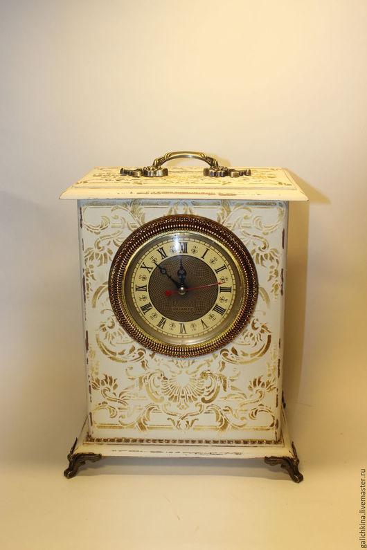 Часы для дома ручной работы. Ярмарка Мастеров - ручная работа. Купить Часы- шкатулка  большие Барокко. Handmade. Бежевый