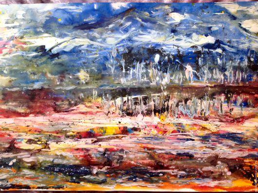 Абстракция ручной работы. Ярмарка Мастеров - ручная работа. Купить В ярких красках.. Handmade. Рыжий, пейзаж недорого