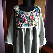 Одежда handmade. Livemaster - original item Dress with hand embroidery