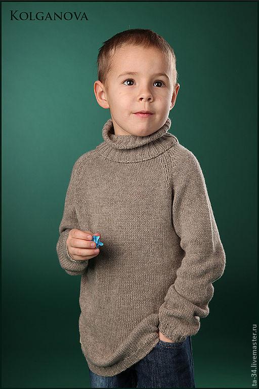 Одежда для мальчиков, ручной работы. Ярмарка Мастеров - ручная работа. Купить Свитерок из кашемира. Handmade. Коричневый, кашемир