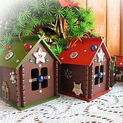 Сувениры и подарки handmade. Livemaster - original item Christmas decorations: Houses, interior design pendants, set. Handmade.