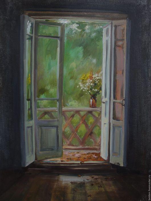 Картины цветов ручной работы. Ярмарка Мастеров - ручная работа. Купить Букет на балконе. Handmade. Комбинированный, балкон, авторская работа