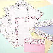 Открытки ручной работы. Ярмарка Мастеров - ручная работа набор бумаги для писем и конверты. Handmade.