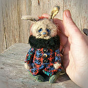 Куклы и игрушки ручной работы. Ярмарка Мастеров - ручная работа Катюша. Teddy bear and friends/ мини мишка зайка тедди винтаж. Handmade.